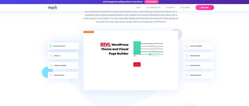 Fastest free theme for wordpress DIVI